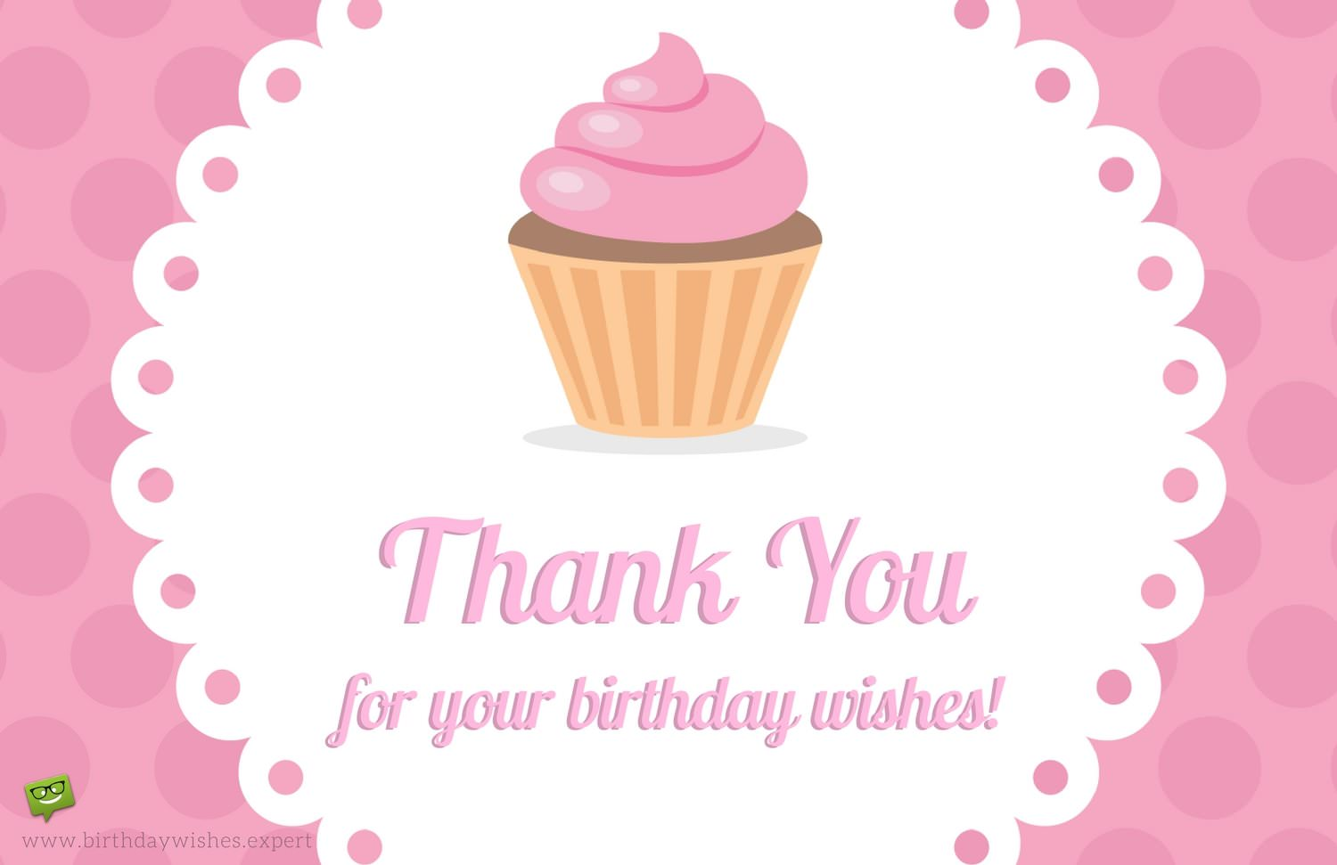 return thanks message for birthday wishes ; Thank-you-note-on-pink-background-with-cup-cake