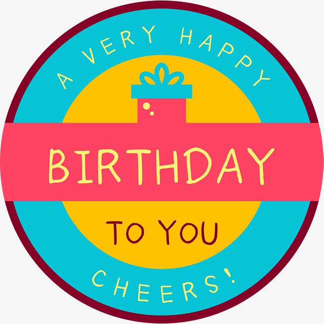 round birthday labels ; 2a10d486bb96374e31c6a9da0c007e94