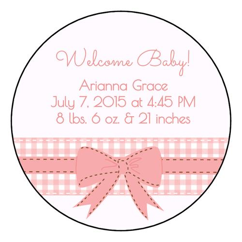 round birthday labels ; Birth-Announcement-Circle-Labels