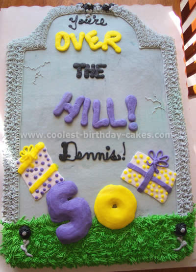 sheet cake decorating ideas for birthdays ; over-the-hill-cakes-05