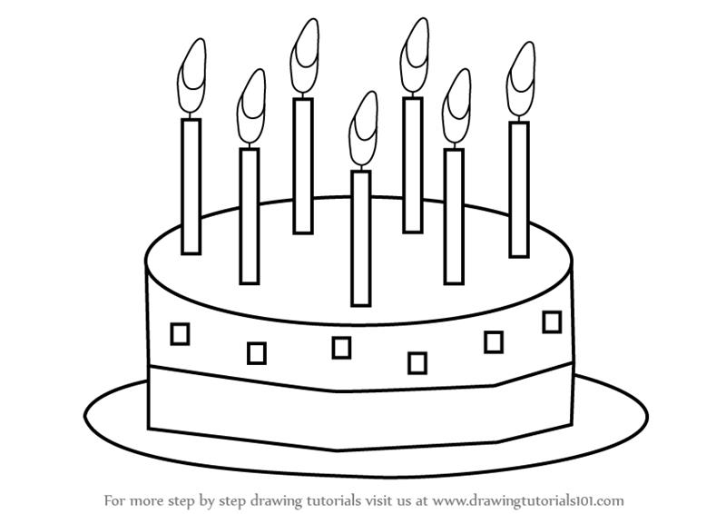 simple birthday cake drawing ; how-to-draw-birthday-cake-learn-how-to-draw-birthday-cake-for-kids-cakes-step-step-batter