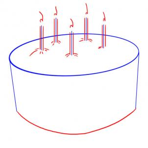 simple birthday cake drawing ; v82_how-to-draw-a-simple-birthday-cake-step-2