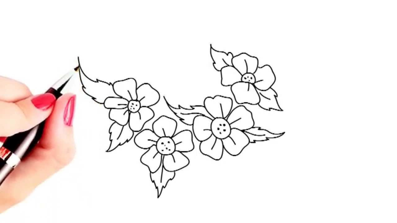 simple birthday drawings ; pencil-drawings-of-beautiful-birthday-flower-how-to-draw-beautiful-flowers-easy-and-simple-drawing-youtube
