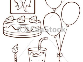 simple birthday drawings ; simple-birthday-drawings-illustration-of-a-simple-drawing-of-a-birthday-celebration-disney-pictures-to-colour-in-320x240