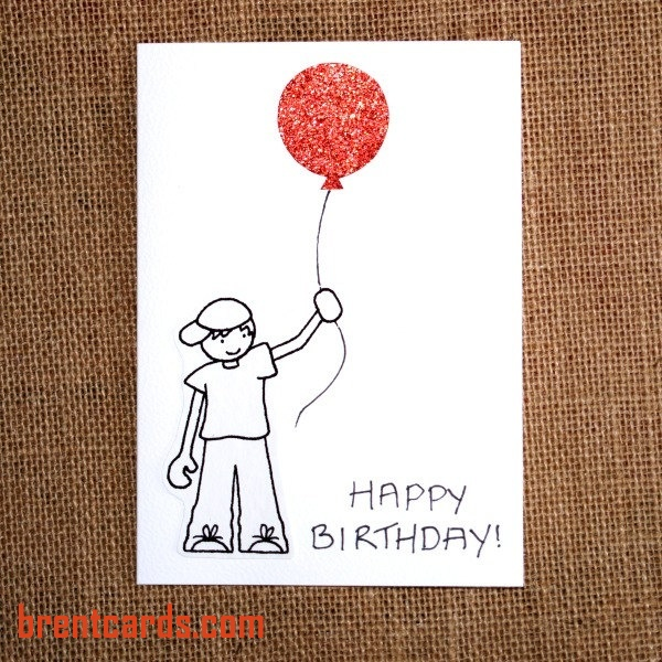 simple drawing birthday card ; homemade-birthday-cards-for-boys-unique-i-love-the-simple-drawing-and-cute-red-balloon-happy-of-homemade-birthday-cards-for-boys