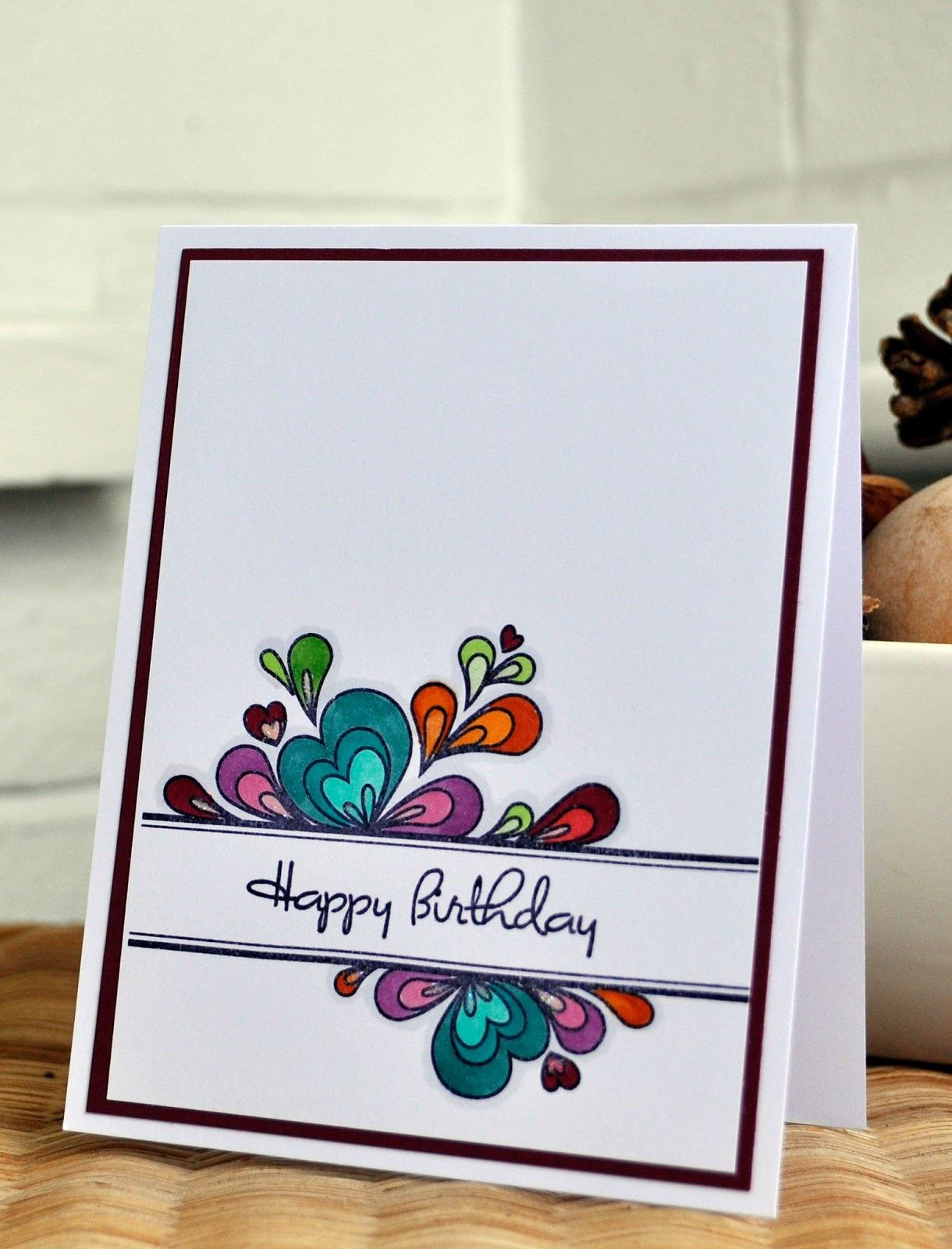 simple drawing birthday card ; simple-photo-cards-attractive-inky-fingers-papertrey-ink-birthday-cards-for-clean-and-simple-of-simple-photo-cards