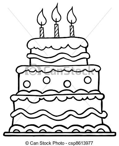 simple drawing of birthday cake ; 633686384-cake-drawing