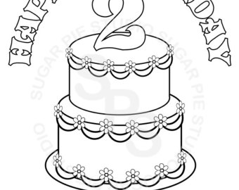 simple drawing of birthday cake ; il_340x270