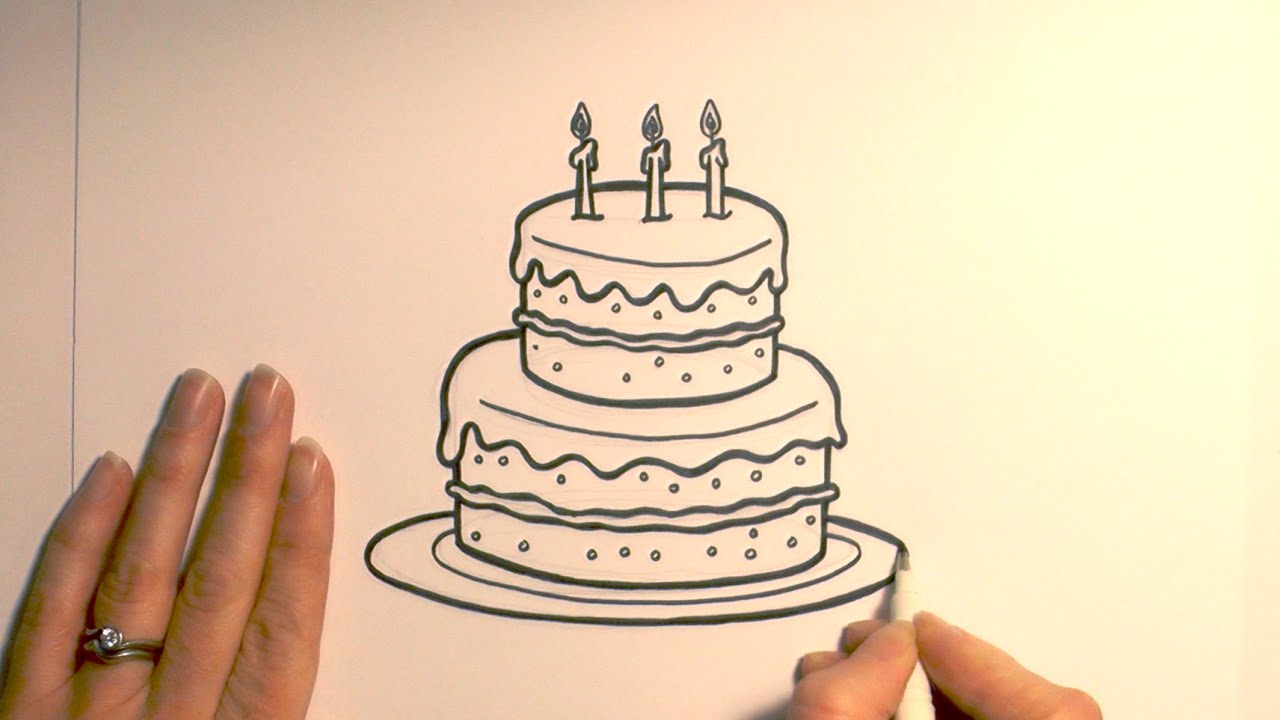 simple drawing of birthday cake ; simple-birthday-cake-drawing-how-to-draw-a-cartoon-birthday-cake-youtube-1