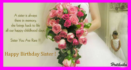 sister birthday greetings message ; 309143