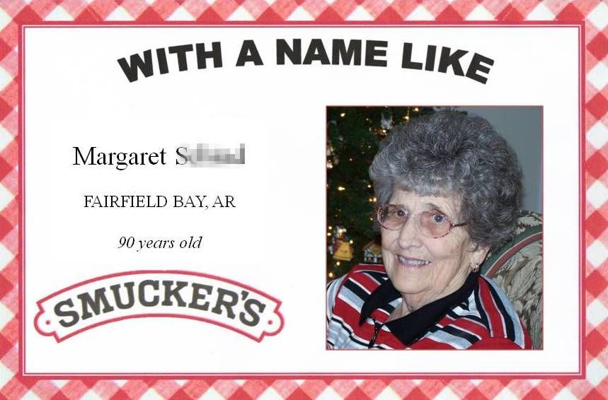 smuckers birthday label template ; Margaret+Smuckers+pixelated