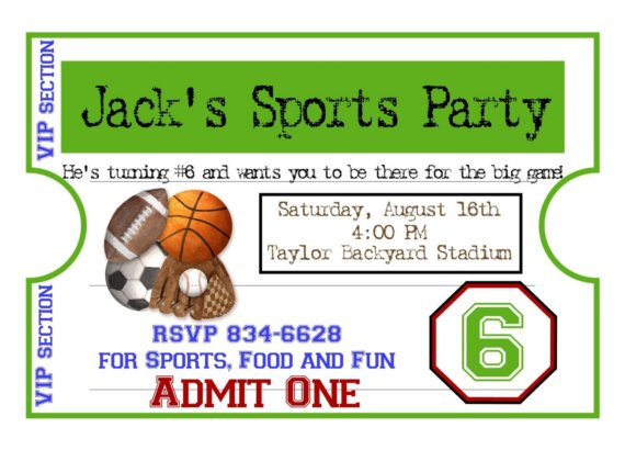 sports themed birthday invitation wording ; Sports-Party-Invitations-as-an-additional-inspiration-for-a-fetching-Party-invitation-design-with-fetching-layout-1