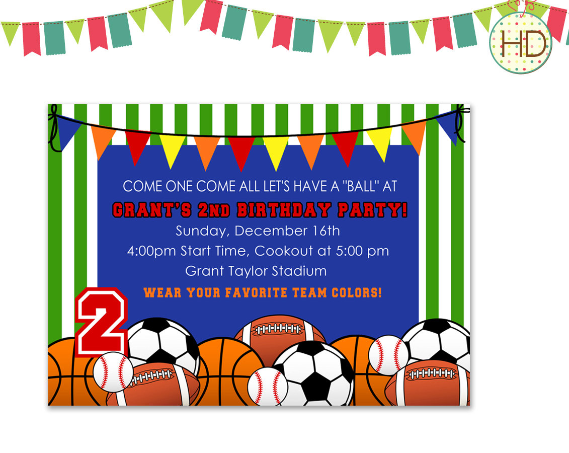 sports themed birthday invitation wording ; kids_invitations__birthday_party_invitation_templates_my_little_2