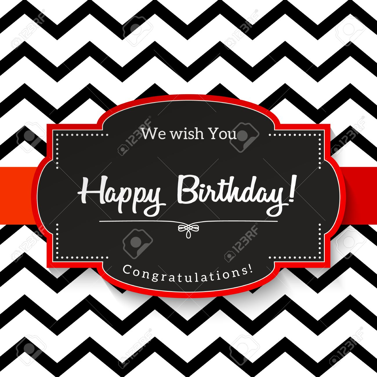 sticker birthday card ; 57838081-elrgant-vntage-greeting-card-with-text-happy-birthday-black-sticker-with-red-border-on-abstract-chev