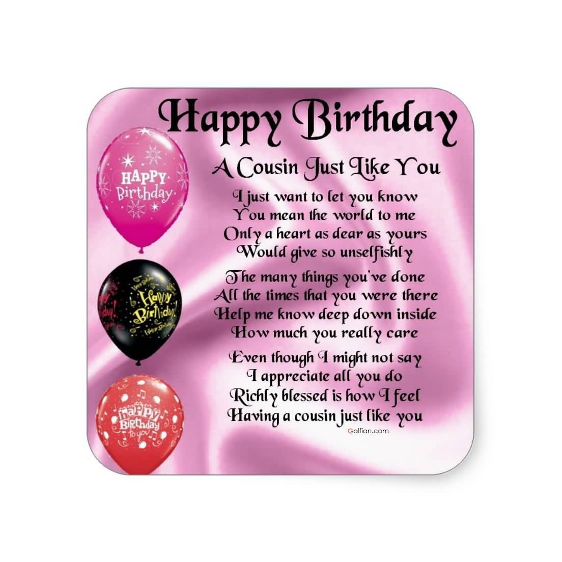 stickers for birthday wishes ; Nice-Poem-Birthday-Wishes-For-Cousin-E-Card