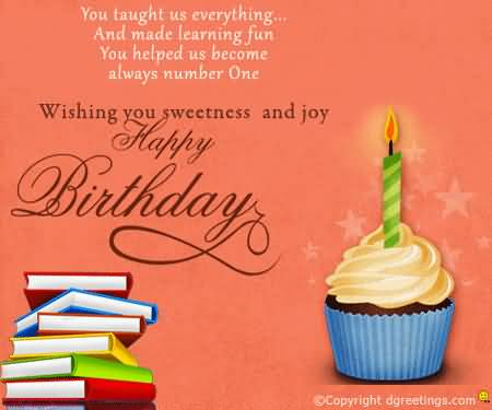 teacher birthday wishes card ; awesome-cup-cake-birthday-wishes-for-sweet-teacher-e-card