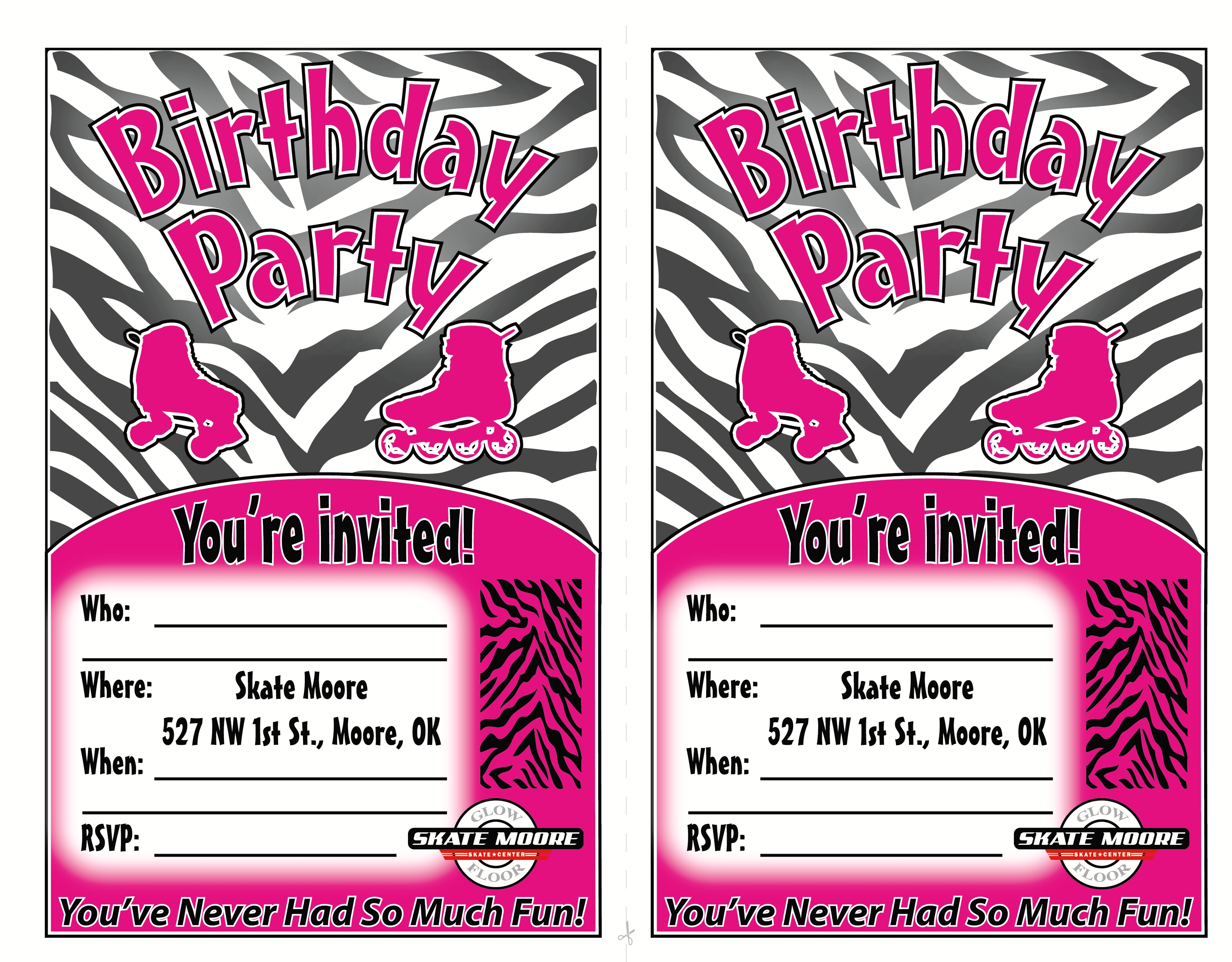 teenage girl birthday invitations free printable ; Roller-Skating-Birthday-Party-Invitations-combined-with-your-creativity-will-make-this-looks-awesome-4