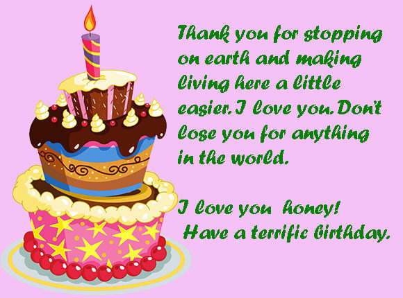thank you birthday message for birthday greetings ; Birthday-Wishes-Cake-Images-for-Girlfriend-580x430