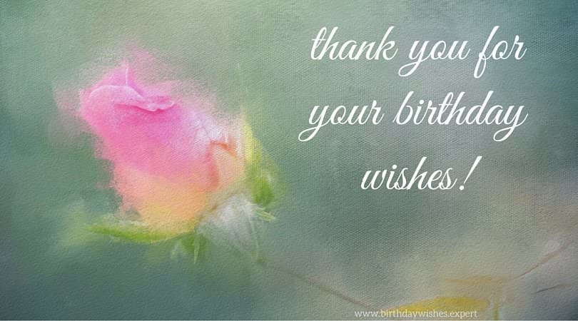 thank you card for birthday wishes on facebook ; Thank-you-for-your-birthday-wihses-on-image-of-rose-painting