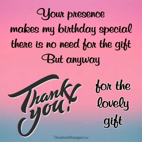 Thank You Message For Birthday Greetings And Gifts Best Happy