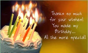 thank you message for birthday greetings and gifts ; images