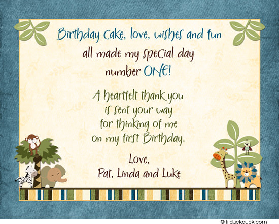 thank you message to friends for birthday greetings ; Jungle-Safari-Friends-Birthday-Thank-You-Leaves-Stripes-Blue-Inside-Bottom-Folded-cardstock