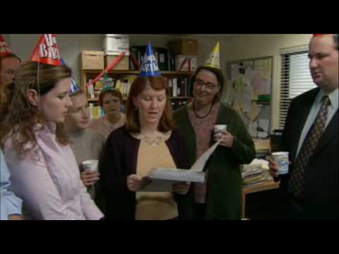 the office birthday card quotes ; hqdefault