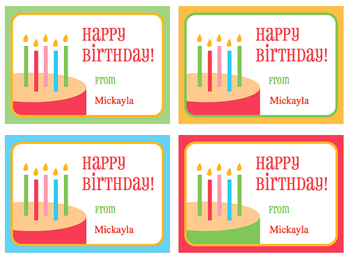 to from birthday labels ; BirthdayTags