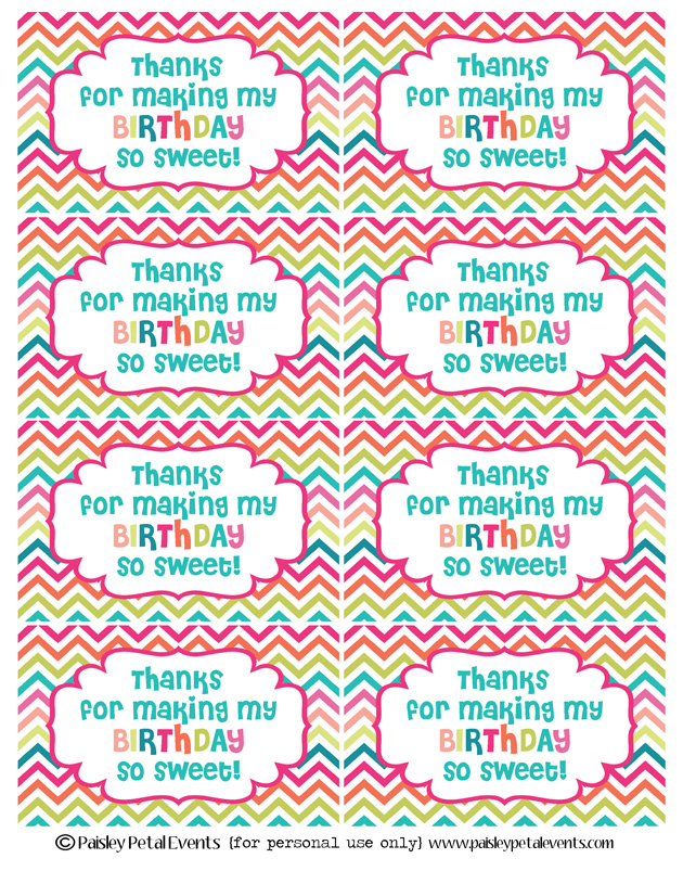 to from birthday labels ; rainbow-chevron-birthday-labels-page-for-web