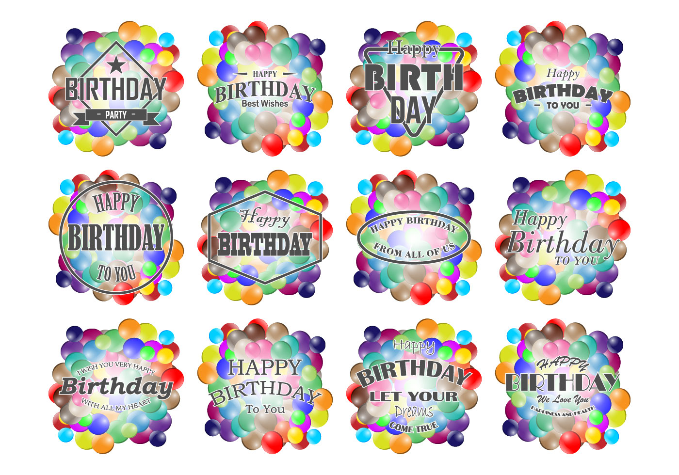 to from birthday labels ; smarties-birthday-labels-vector