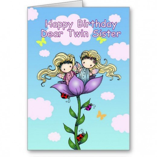 Twins Birthday Wishes Greeting Card 57e7f0d6d224ce0fcf2505f171e52fb3