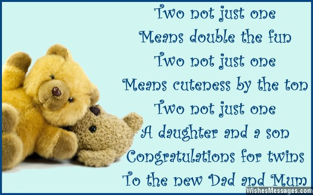 twins birthday wishes greeting card ; Congratulations-card-message-for-having-twins