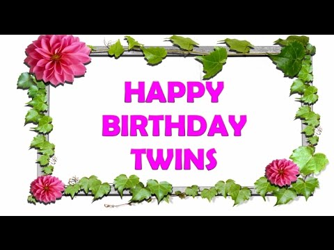 twins birthday wishes greeting card ; hqdefault