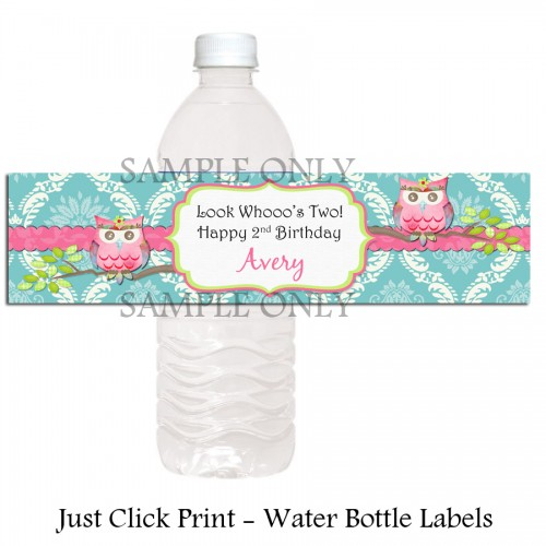 water labels for birthday ; owl_look_whooos_birthday_shabby_chic_water_bottle_labels_printable_diy_aedd03a8