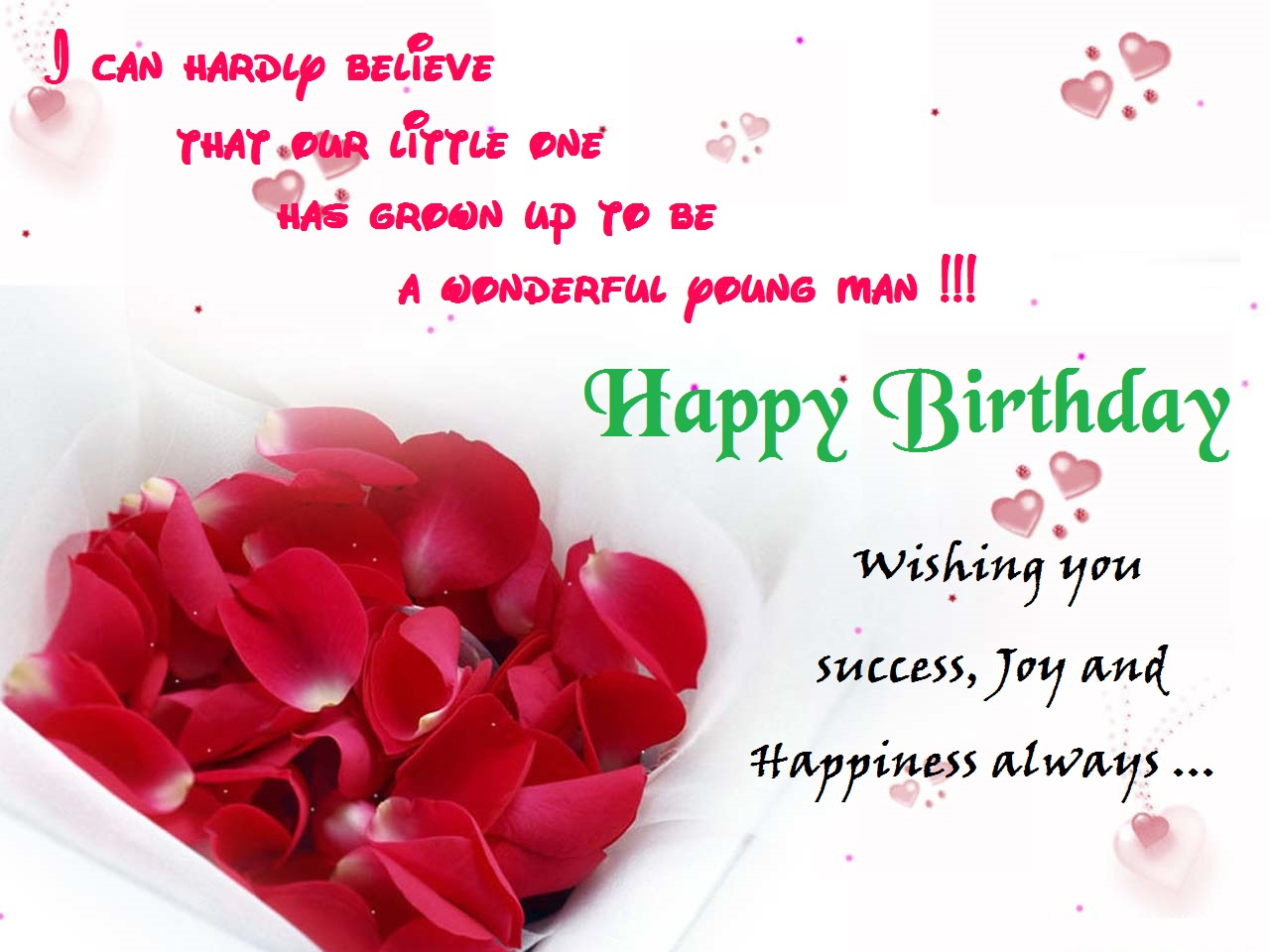 wish you happy birthday greeting card ; wishing-happy-birthday-to-son-from-father-mother-parents-greetings-card