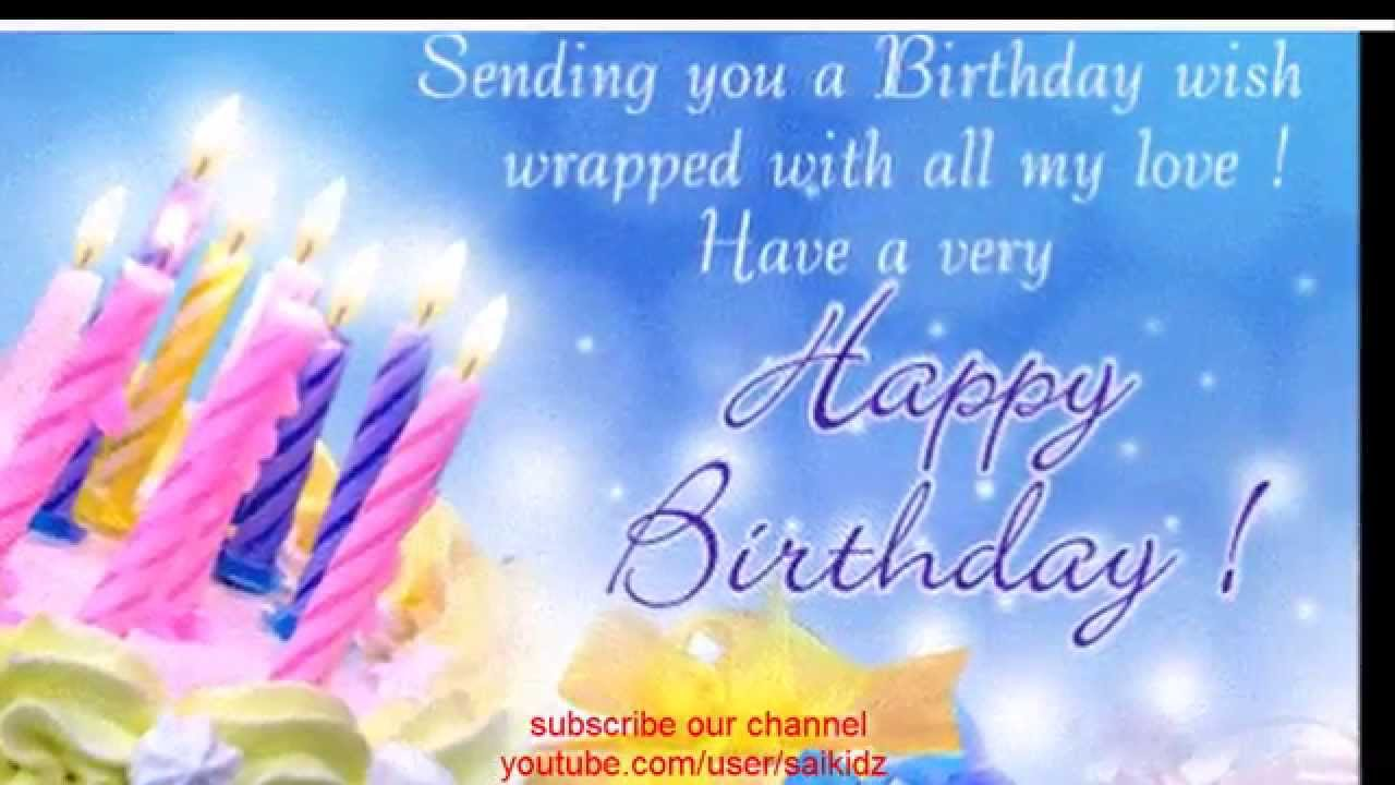 youtube birthday wishes card ; maxresdefault