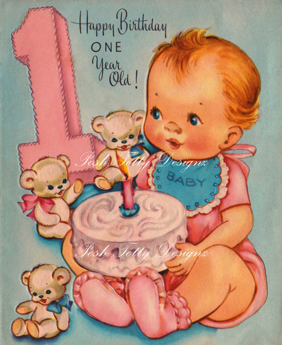 1 year old birthday card printable ; 0140c636d8144da2f3a39393dc4e05c6