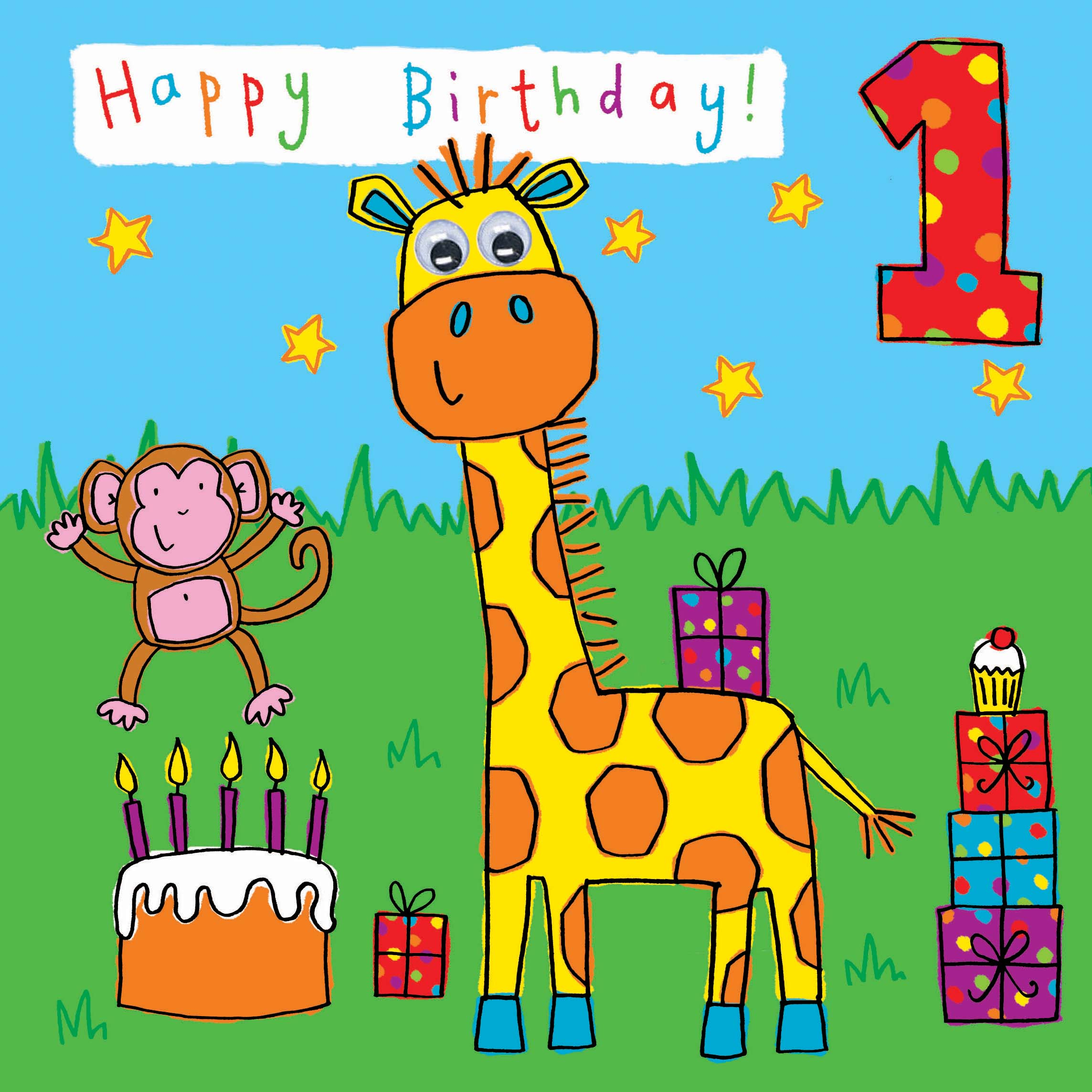 1 year old birthday card printable ; childrens-birthday-card-age-1-giraffe-299-p