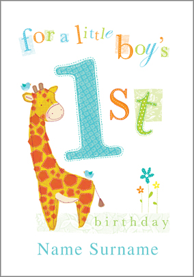 1 year old birthday card printable ; preview-image-is-not-found-giraffe-baby-design-card-celebrate-decoration-creative-simple-colored-one-year-old-birthday-card