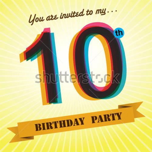 10th birthday invitation templates free ; 10th-Birthday-party-invite