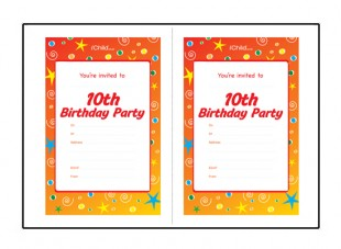 10th birthday invitation templates free ; 10thBirthday_invites