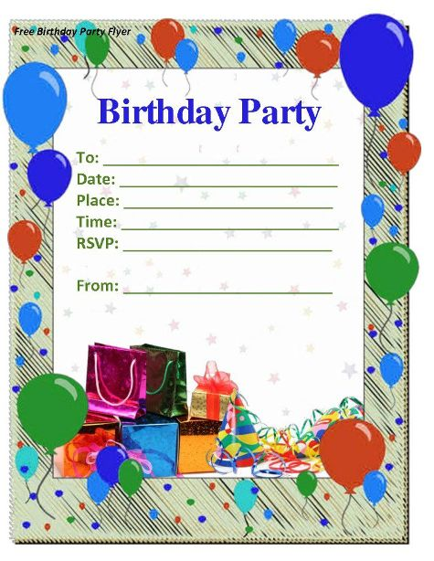 10th birthday invitation templates free ; birthday-invitation-template-9