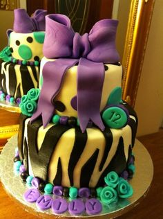 11 year old birthday cake design ; 3dda52687a38f68c2e1d18db61dab9ec--zebra-birthday-cakes-zebra-cakes