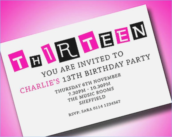 13th birthday party invitations printable free ; 13th-birthday-invitation-templates-musicalchairs-at-free-13th-birthday-invitation-printable-1