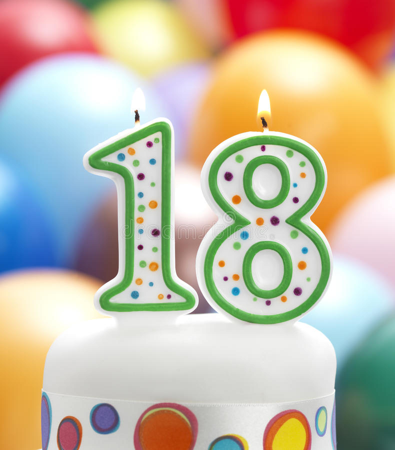 18th birthday cake clipart ; s-my-th-birthday-candle-balloon-party-background-47207239