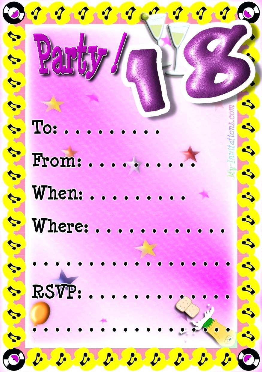 18th birthday party invitation designs ; 18th-birthday-invite-template-party-invitations-as-charming-ideas-for-unique-invitation-design-card-templates