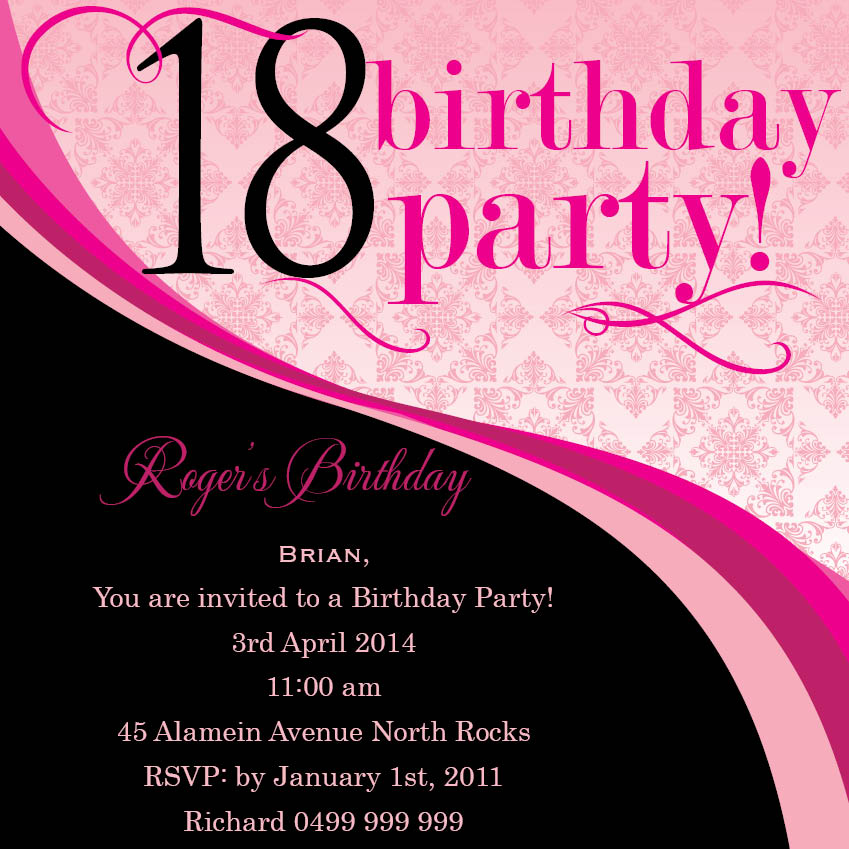 18th birthday party invitation designs ; Fascinating-18Th-Birthday-Invitations-To-Create-Your-Own-Free-Printable-Birthday-Party-Invitations