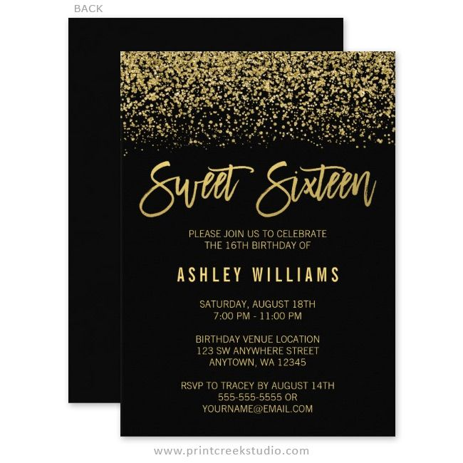 18th birthday party invitation designs ; Sweet-16-party-invitations-and-get-inspiration-to-create-the-party-invitation-design-of-your-dreams-1