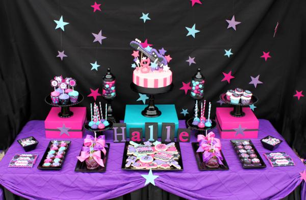 18th birthday party themes ; Rock-Themed-party