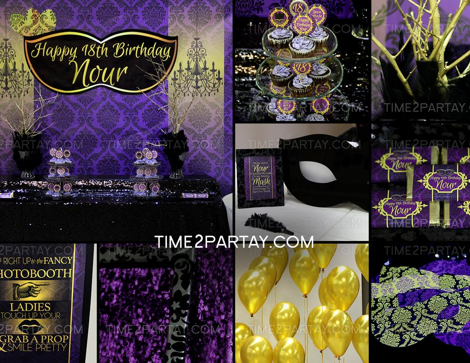 18th birthday party themes ; _-